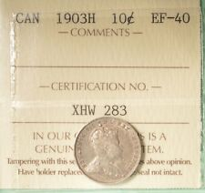 1903H Canada Silver 10 Cents  - Graded - ICCS EF-40 - SERIAL# XHW 283