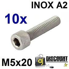 10x Vis CHC (BTR) - M5x20 - INOX A2 - DIN 912 - 6 pans creux