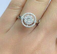 18k Solid White Gold Genius Diamond Cluster Ring 0.42 Ct, Sz 6.5 Was $1300
