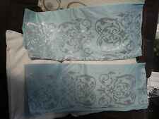 101) MARKS AND SPENCER PAIR OF SILVER EMBROYDERED PILLOW CASES