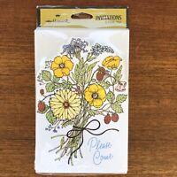 "VTG Hallmark Invitations Flower Boquet ""Please Come"" 8-pack. sealed NOS"