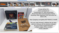 Transformers G1 20th Anniversary Boxed Set With Commemorative Series Ricocheyt
