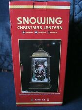Santa Snowing Christmas Lantern with LED and Music ....NEW