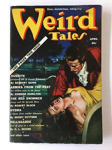WEIRD TALES - April 1939 Pulp Digest – Quinn / Bloch – Finlay Cover Art