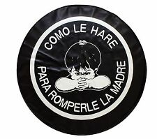 """15"""" SPARE TIRE COVER ANGRY BOY BLACK HEAVY DUTY VINYL TIRE COVER"""