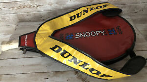 Vintage Dunlop Snoopy Racketball Racket With Backpack Carrying Case Rare