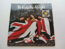 THE WHO  ORIGINAL 1979  U.K. LP   THE KIDS ARE ALRIGHT  EXCELLENT