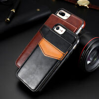 for iPhone X 8 7 Samsung Slim Flip Wallet Leather Case Card Holder Stand Cover