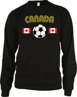 Canada Country Flag Soccer Football Maple Leaf Canadian Long Sleeve Thermal
