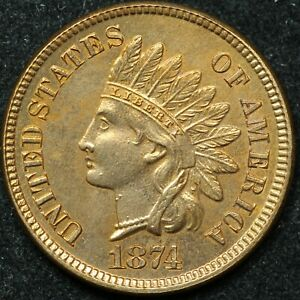 1874 1 One Cent Indian Head - GREAT CONDITION!