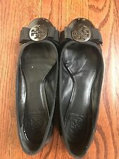 Tory Burch black patent leather flat shoes Size 9.5