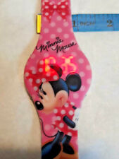 Disney Minnie Mouse Watch Silicone Band Accutime ~ TESTED ~ Ships FREE