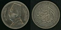 1933 Scarce Silver Egypt Silver Coin Five Piastres King Fuad Fouad the First XF