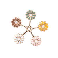 10Pcs/Set Enamel Multicolor Pearl Flower Charms Pendant Jewelry Craft DIY Making