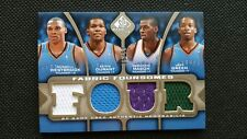 KEVIN DURANT/RUSSELL WESTBROOK/GREEN 09-10 SP GAME USED FABRIC FOUR JERSEY#35/50