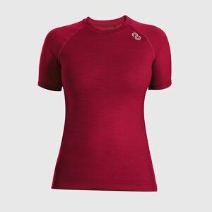 REDA Rewoolution Ali - Women's T-Shirt Ss 140, Underwear, Merino Wool, Ruby