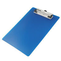 Office School Spring Loaded A5 Paper Holding File Clamp Clip Board Blue Y8S6
