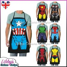 The Avengers Superhero Aprons Marvel Comics Novelty Funny Cooking BBQ Chef Gift