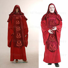 Star Wars Emperor Palpatine Darth Sidius Costume Cosplay Robe Dark Red Tailored