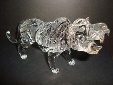 Genuine Handmade  Spun Glass ~Tiger~Figure~Ornament~Animal~Lge~Boxed~uk seller