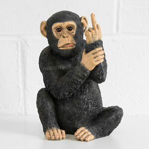 Large Resin Rude Monkey Ornament Statue Scuplture Figurine Gift Home Decoration