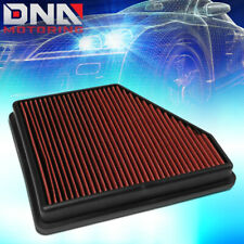 FOR 2010-2015 CHEVY CAMARO 3.6L 6.2L ENGINE HI-FLOW DROP IN PANEL AIR FILTER RED