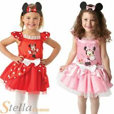 Disney Girls Minnie Mouse Ballerina Book Week Fancy Dress Costume - Pink & Red