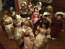 13 Dolls Franklin Mint Heirloom Porcelain Doll-Maids of the 13 Colonies