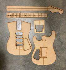 Super Strat 22 Guitar Building Templates with Original Floyd Rose Routing