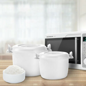 Microwave Oven Rice Cooker Multifunctional food Steamer pot Bento Lunch-_cd