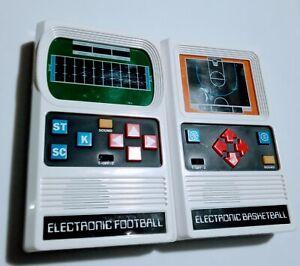 Retro Styled Mattel Electronics Hand Held Basketball &Football Works