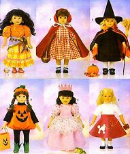 "Reduced!  BUTTERICK 5661 18"" DOLL HALLOWEEN COSTUMES Pattern"