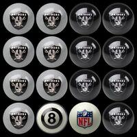 NFL Oakland Raiders Pool Billiards Ball Set w/ FREE Shipping