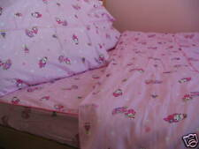 Kids Cotton Twin Size Bedding Set Pink Purple Bunny Caterpillar