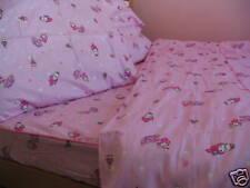 Kids Cotton Twin Size Pink Purple Bunny Caterpillar Duvet Cover Bedding Set