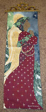 African American Christmas Angel Praying ~ Tapestry Wall Hanging Panel