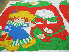 Huckleberry Pie Cloth Baby Quilt Pattern Fabric Panel Springs Mills Vintage 1981