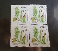 Ireland Definitive Postage Stamps 2x2 block 2 cent Irish Orchid Eire MNH
