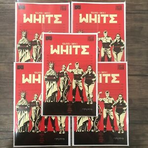 5 Pack White #4 Black Mask Comics First Printing Limited to 2500
