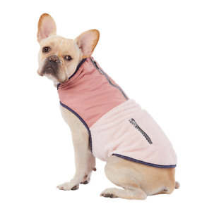 Top Paw Dog Two-Tone Cozy Coat Blue/Pink S-XL Waterproof Warm Ultra Reflective