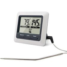 Digital meat thermometer oven thermometer with built-in count down timer   Large