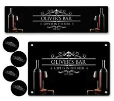 More details for personalised bar runner sign coaster any name garden plaque gift bar pub 247
