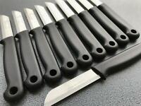 10x  SOLINGEN Küchenmesser SCHWARZ Obstmesser Schälmesser Allzweckmesser Messer