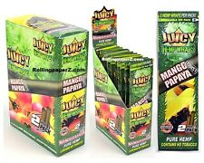 FULL BOX of 25 Packs(2 per pack) JUICY HEMP WRAPS - Mango Papaya Twist Flavored