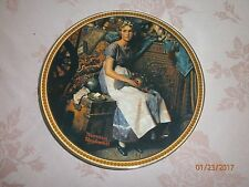 NIB Norman Rockwell Dreaming in the Attic #8018C Collectible Plate with COA