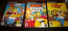 3 Ps2 Game Bundle, Simpsons Game, Road Rage & Hit and Run Disks, Manuals & Cases