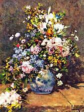 PIERRE AUGUSTE RENOIR STILL LIFE WITH LARGE VASE OLD ART PAINTING PRINT 2518OMB