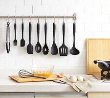 10pc Kitchen Utensil Set Silicone Scraper Brush Tong Whisk Spoon Turner Soup