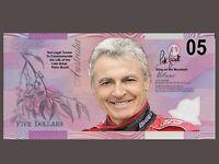 Peter Brock 05 Torana Novelty $05 Note Not Legal Tender