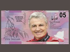Bathurst Legend Peter Brock 05 Torana Novelty $05 Note Not legal tender